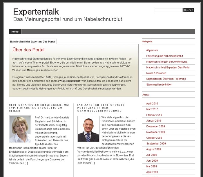 Online Marketing für Healthcare-Blog